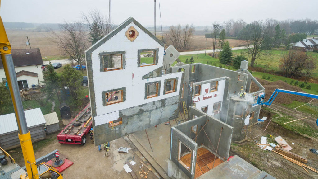 First Residential Home built with Tilt-Up Construction Project in Ontario