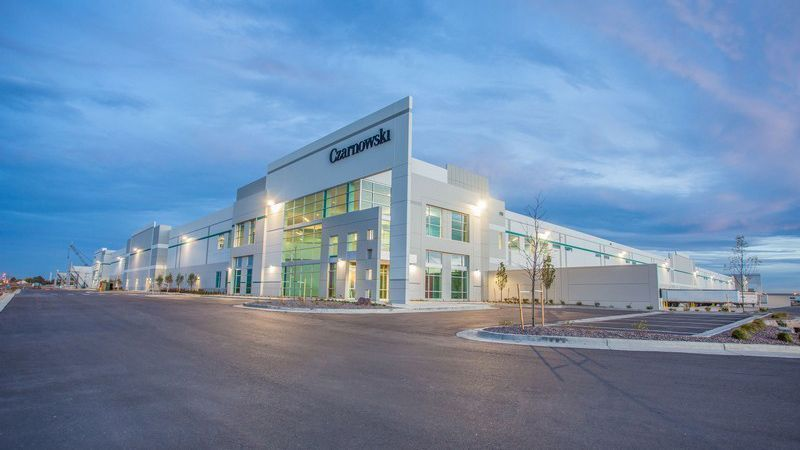 Top 10 Tilt-Up Building Designs Across North America - Prologis Stapleton Business Center Building 1 - TiltWall Ontario