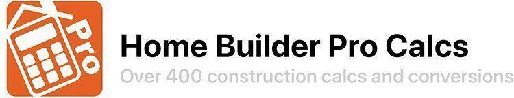 Homebuilder Pro Calcs - Construction App