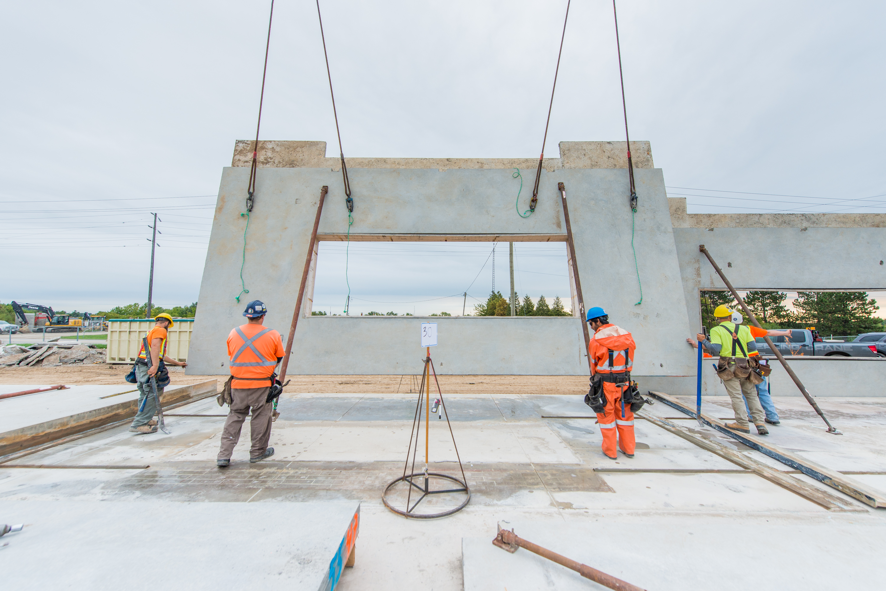 Lifting Concrete Panels in Place